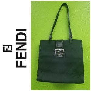 FINAL DROP : AUTHENTIC black fendi handbag